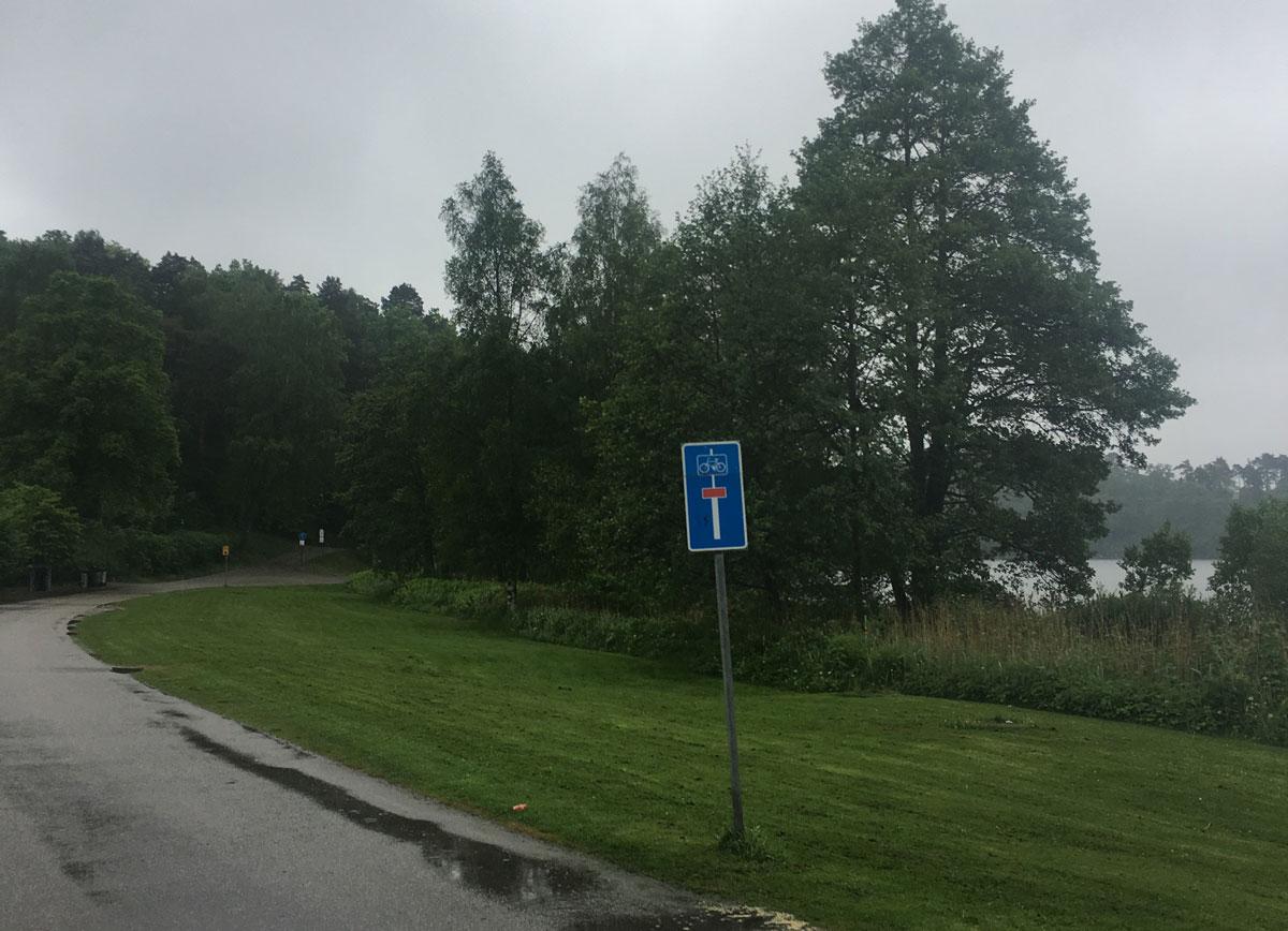Starten vid Ramnasjön i ett regnit Borås