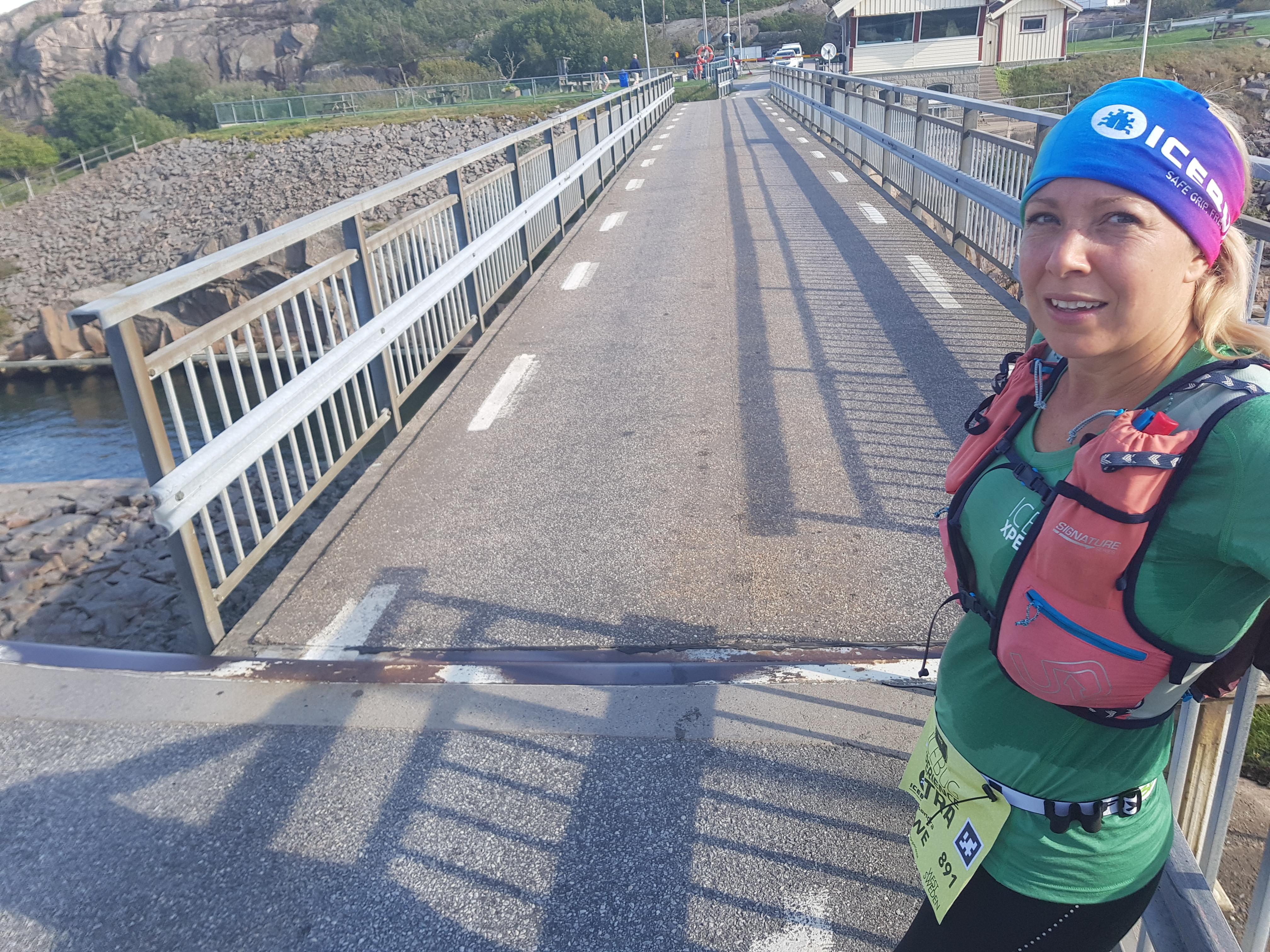 Tillbaka vid bron över Sotekanalen
