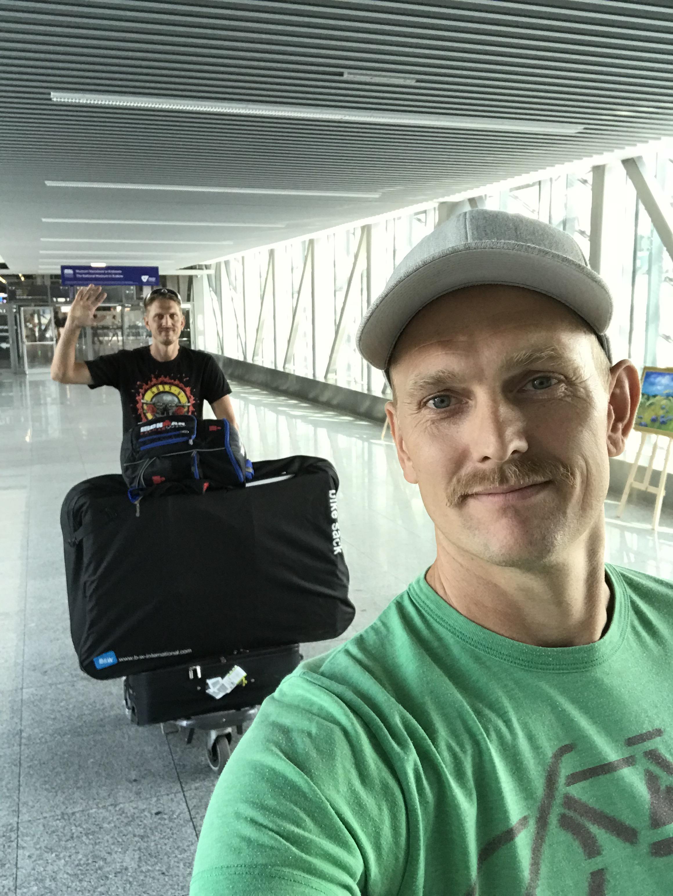 Fullastat på flygplatsen