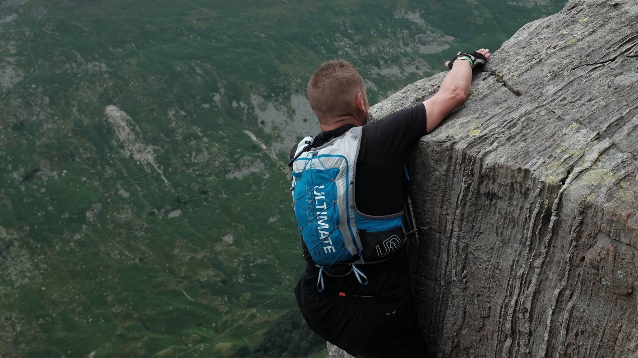 Arnoud på Pinnacle ridge