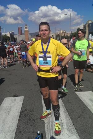 Nöjd marathonlöpare